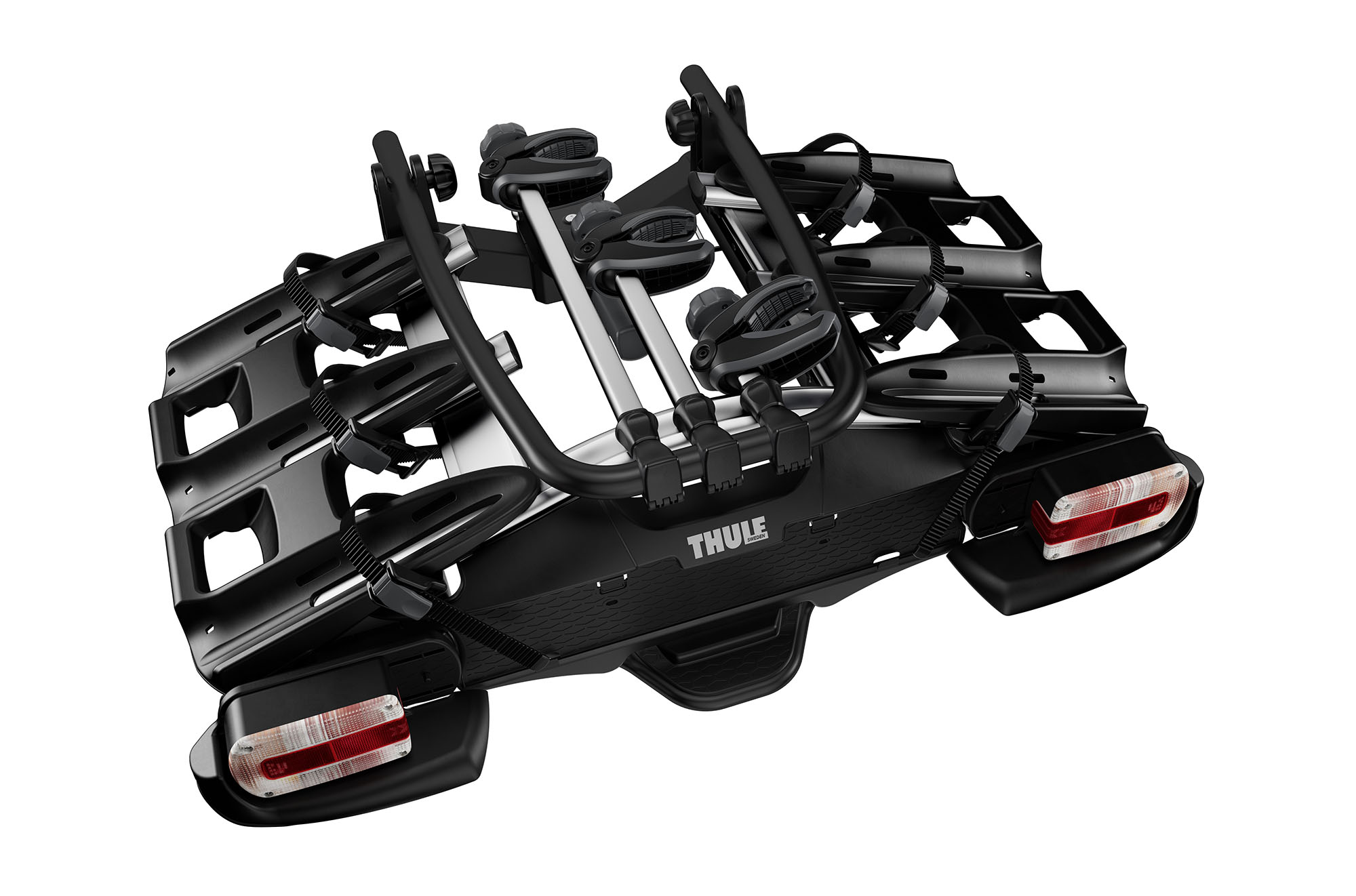 thule 927 velocompact 3 bike carrier the great outdoors hire. Black Bedroom Furniture Sets. Home Design Ideas